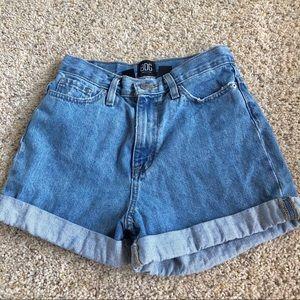 UO BDG mom high rise denim shorts